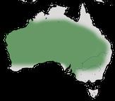 Karte zur Verbreitung des Weißflügel-Staffelschwänz (Malurus leucopterus) in Australien.