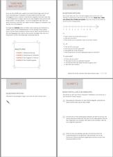 Übersicht (4 Seiten) des Arbeitsheftes zum Thema Selbstmarketing