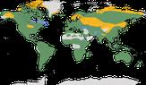 Karte zur Verbreitung der Familie der Falkenartigen (Falconidae)