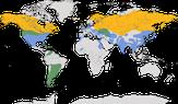 Karte zur Verbreitung der Sumpfohreule (Asio flammeus)