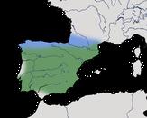 Karte zur Verbreitung des Mittelmeer-Raubwürgers (Lanius meridionalis)