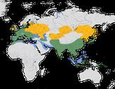 Karte zur Verbreitung des Eisvogels (Alcedo atthis)
