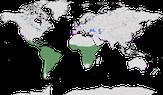 Karte zur Verbreitung der Eigentlichen Papageien (Psittacidae)
