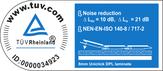 TüV keuring geluidsreductie van 10dB - ondervloer geschikt voor appartementen