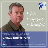 Landesvorsitzender der AUF/AFH Kärnten: Volker Grote, Vzlt