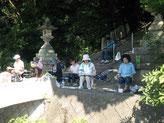 屋外スケッチ会の風景:法輪寺