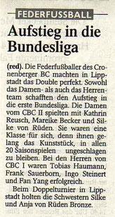 Westdeutsche Zeitung Bericht vom 23.05.2003
