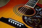 Klassische Gitarre, E-Bass, E-Gitarre