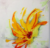 Orange Blüten, Acryl auf Leinwand, JULIA! Neulinger-Kahl