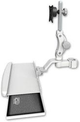 ポールマウント 支柱取付 ディスプレイキーボード ワークステーションアーム :ASUL550-P2-KUB