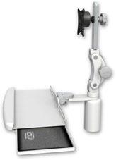 業務用モニターアーム デスクマウント ディスプレイキーボード用アーム:ASUL550-D5-KDB