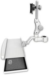 ポールマウント 支柱取付 ディスプレイキーボード用 ワークステーションアーム :ASUL550-P15-KUB