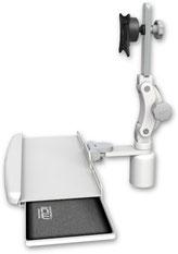 業務用モニターアーム デスクマウント ディスプレイキーボード用アーム VESA:ASUL550-D3-KDB