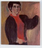 """Eva Hradil, """"SP während Männer"""" 2004, Öl auf LW, 90 x 80 cm, im Besitz von Landesmuseum Niederösterreich"""