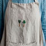tablier de jardinage lin