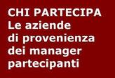 Le aziende dei manager partecipanti al Workshop Vendite FORTIA.