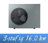 Link 3-stufige Inverter 16,0 kW 230V von Holter Wärmepumpe Poolheizung
