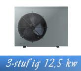 Link 3-stufige Inverter 12,5 kW 230V von Holter Wärmepumpe Poolheizung
