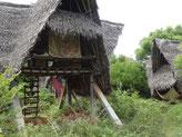 Les huttes individuelles