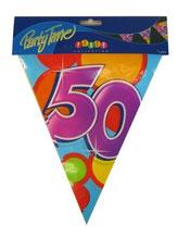 """Vlaggenlijn PE """"50"""" 10m € 2,50"""
