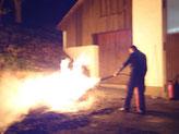 2013-04 Probe mit Feuerlöschern