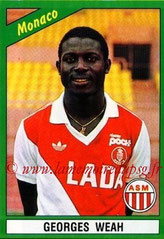 N° 126 - Georges WEAH (1990-91, Monaco > 1992-95, PSG)