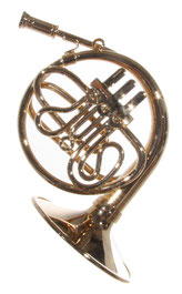 Horn auch Corno genannt aus Messing
