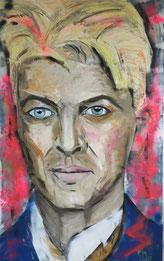 """""""David Bowie"""" 160x100 Öl auf Leinwand"""