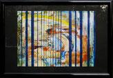 Hinter Gittern, Acryl auf Papier 70 x 50