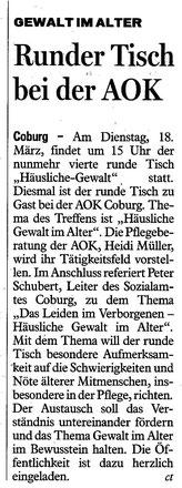 Coburger Tageblatt vom 15.03.2014