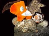 Miss Pumpkin, samtiges orangefarbenes reflekTIER
