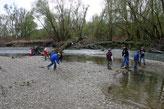 Wanderung zu den Konikpferden 06.04.2008
