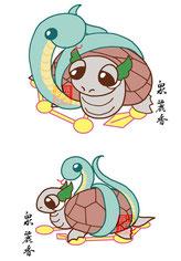 星田妙見宮の玄武キャラクター制作