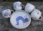 Keramik Geschirr für Kinder
