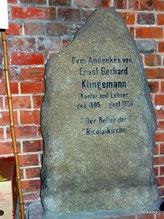 Gedenken an E. Klingemann