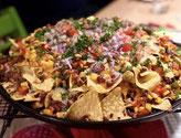 Überbackene Nachos vom Grill