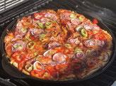 Pizza vom Grillstein