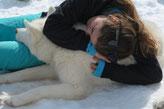 Cheyenne kuschelt mit mir