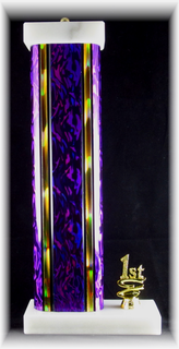 """Single Wide Column Trophy with Trim, 5"""" Base"""
