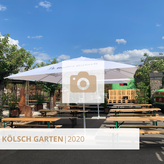 Impressionen aus dem Kölschgarten, dem Open-Air Brauhaus, Biergarten in der Nähe