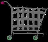 ein Einkaufswagen als Symbolbild
