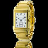 Handgefertigtes Uhren-Armband in Gelbgold. Auf Kundenwunsch angefertigt, passend zur Armbanduhr Reverso von Jaeger LeCoultre. Goldschmiede OBSESSION Zürich und Wetzikon