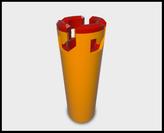 3D getekend glijlager, met bajonet sluiting.