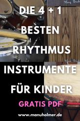 Gratis PDF beste Rhythmusinstrumente für Kinder