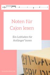 Noten für Cajon lesen