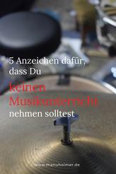 Auf Musikunterricht verzichten