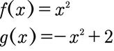 Aufgabe zur Berechnung der Fläche zwischen den Funktionen g und f.