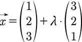 Beispiel für die Gleichung einer Geraden in Parameterform