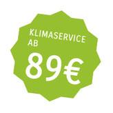 Klimaservice ab 89 €