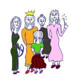 gezeichnete Archetypen der Frau